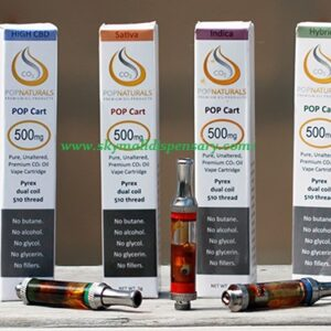 Pop Natural Cannabis Oil Cartridge