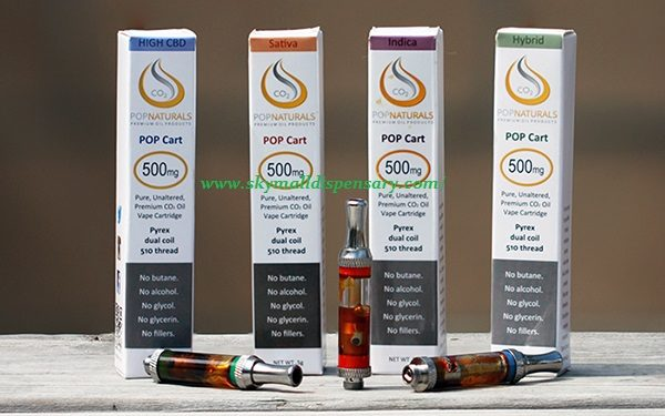 Pop Natural vape Oil Cartridge