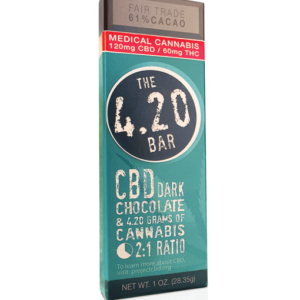CBD Dark Chocolate 4.20 Bar Venice Cookie