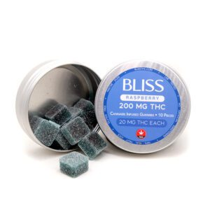 Bliss Blue Raspberry THC Gummies Edibles