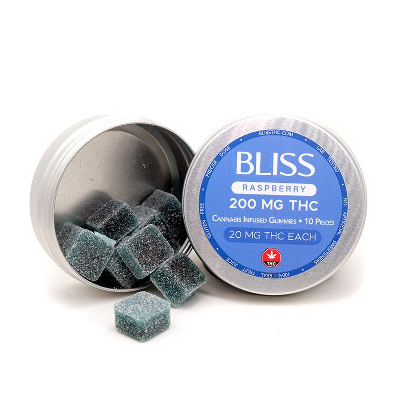 Bliss Blue Raspberry THC Gummies Jadalne