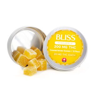 Bliss Pineapple THC Gummies Edibles